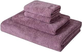 MIMONG Microfiber Bath Towels Set Quick Dry Bath Towel Travel Sports Fitness Yoga Towel Sets for College 4 Piece Set 1 Bath Towel 1 Hand Towel 2 Washcloths-Lavender