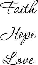 Wall Decal Quote Faith Hope Love Wall Decal Decor Words Large Nice Sticker by Quote Designs