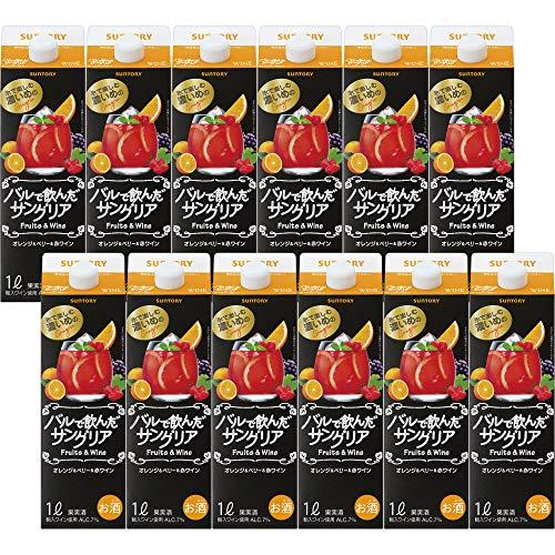 バルで飲んだサングリア オレンジ × ベリー × 赤ワイン 1L紙パック ケース [ライトボディ 日本 ]