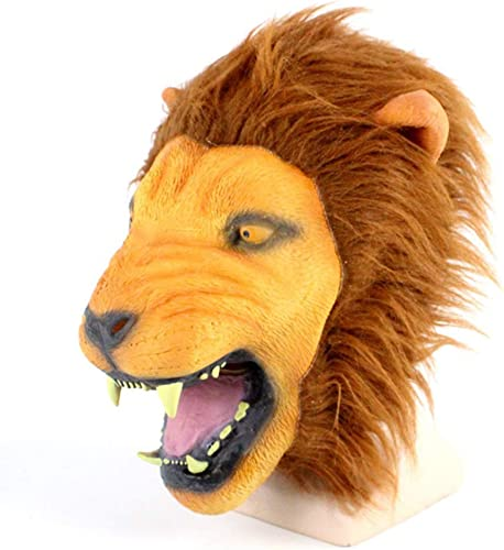 grandes ahorros Máscara De Terror De Lujo Lujo Lujo Un Fantasma Persiguiendo Máscara León Cabeza Cabeza De Juguete De Látex Animal Máscara De Cabeza Para Diverdeido Disfraz De Halloween  tienda de ventas outlet