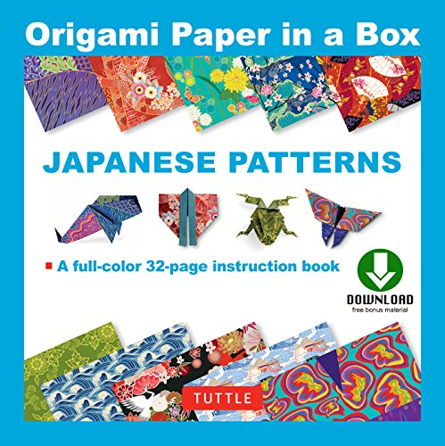 Origami Paper in a Box - Japanese Patterns: Origami Book with Downloadable Patterns for 10 Different Origami Papers (English Edition)
