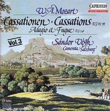 Mozart, W.A.: Cassations, K. 63 and 99 / Adagio and Fugue, K. 546