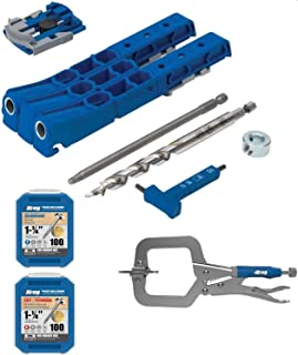 Kreg Pocket Hole Jig 320 with KHC-MICRO and two 100 Count Kreg Screws