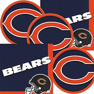 Chicago Bears NFL Football Team Logo Plates And Napkins Serves 16