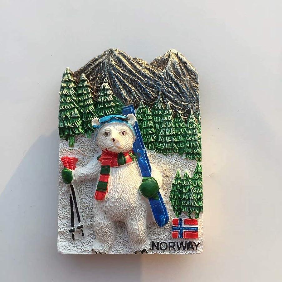 すごい交じる座るWeekino ノルウェー冷蔵庫マグネット3D樹脂観光都市旅行お土産コレクションギフト強い冷蔵庫ステッカー