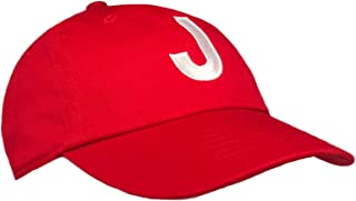 Tiny Expressions - Monogrammed Toddler Baseball Cap | Adjustable Red Hat