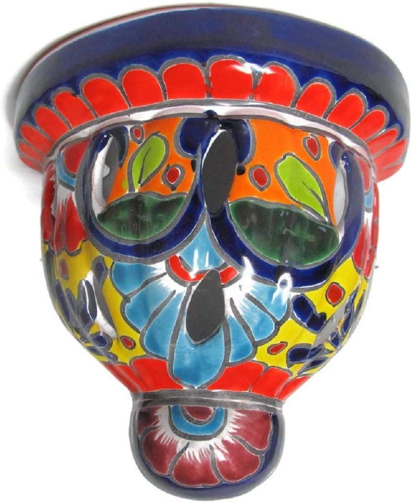 豊富な品 Talavera Pottery 税込 Store Orchid Bell Wall Paint Planter Hand Small