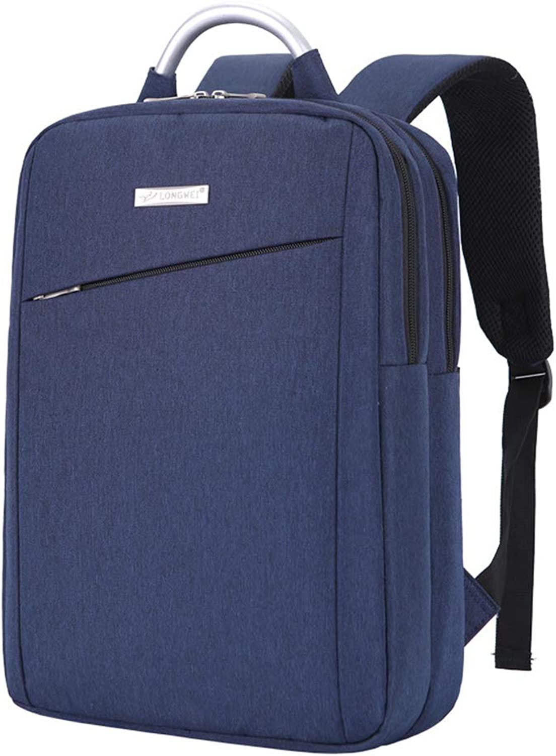 Oxford Cloth Computer Backpack Unisex, Business Casual Travel Backpack Solid color