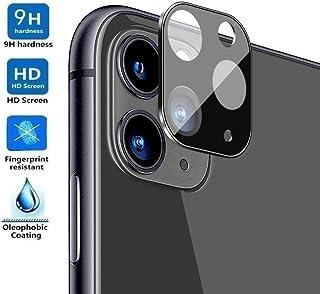 REY Protector de Pantalla 3D para Cámara Trasera de iPhone 11 Pro - iPhone 11 Pro MAX Negro Cristal Vidrio Templado Premium 3D / 4D / 5D