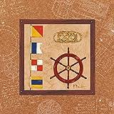 Feeling at home Lienzo-con-AMERICANO-BOX-Newport-II-Brent-Paul-Costa-Fine-Art-impresión-sobre marco de madera-Cuadrado-17x17_in