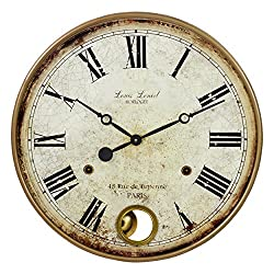 Aspire Raleigh Pendulum Wall Clock, Brown