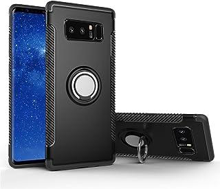 MaiJin Funda para Samsung Galaxy Note 8 (6,3 Pulgadas) Multifunción Anillo sostenedor movil de 360 Grados con función de Soporte Rugged Armor Cover Case (Negro)