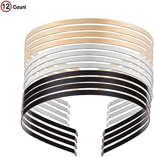 Smooth Metal Headbands Women Hair DIY Craft Blank Thin Steel Wire Frame Hairband Head Bands Mixed Color
