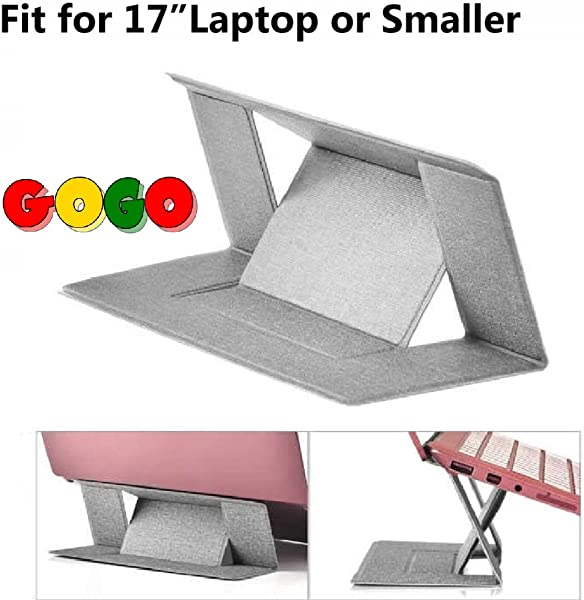 GoGo Laptop Bed Tray Table Portable Adjustable Laptop Stand Desk Bed Stand Standing With Foldable Base Foldable Lap Tablet Use On Sofa Couch Floor Water Proof Material Smooth For Mouse Travel