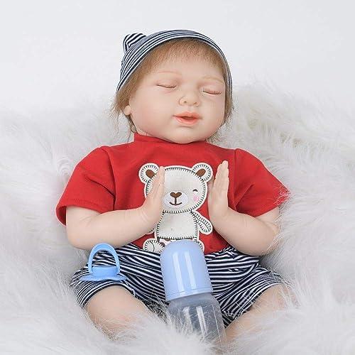 Hongge Reborn Baby Doll,Real Reborn Baby Kind Spielzeug Puppe Geschenk 55cm