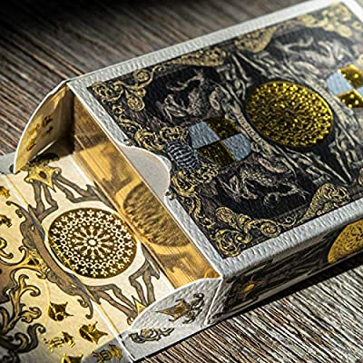 Medieval Royal Playing Cards with Unique Seal, Stand Out with Hand Illustrated Deck of Cards, Cool Poker Cards, Black Playing Cards, Unique Illustrated Designs for Kids & Adults, Playing Card Decks