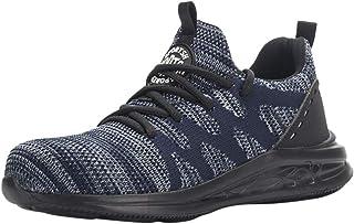 MMOOVV Herren Damen Sportschuhe Mode Fliegen Woven Sicherheitsschuhe Anti-Smashing Anti-Piercing Arbeitsschuhe Sneaker(EU3...