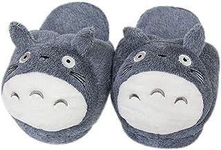EASTVAPS Chaussures Pantoufles en Peluche Chinchilla Totoro Chaussures en Coton Hayao Miyazaki en Peluche