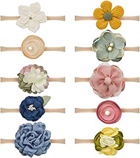 Baby Girl Headbands Bows and Flowers Newborn Infant Toddler Nylon Hairbands Hair Accessories
