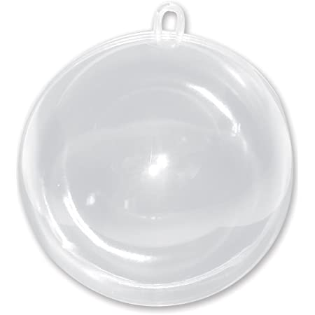Darice Plastic Fillable Ornament Ball, 100mm, Clear