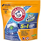 Arm & Hammer plus OxiClean 5-in-1 Power Paks, 17 Count (Packaging may vary)