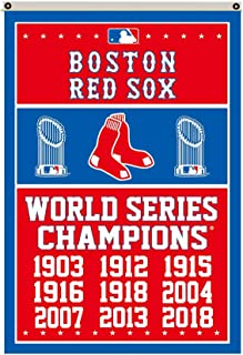 2Love Boston Red Sox 9-Time World Series Champions Flag Banner 3x5 Feet Man Cave