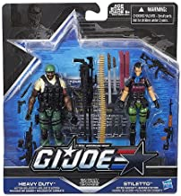 G.I. Joe, 50th Anniversary, Heavy Conflict Exclusive Action Figure Set (Heavy Duty vs Stiletto), 3.75 Inches