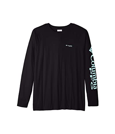 Columbia Big Tall Terminal Tackle L/S Shirt (Black/Gulf Stream Logo) Men