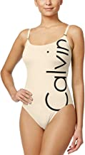 calvin klein logo one piece swimsuit