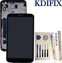 KDIFIX for LG G2 D800 D801 D803 VS980 LS980 LCD Touch Screen Assembly + Frame with Full Professional Repair Tools kit (Black+Frame)