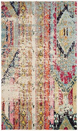 Safavieh Monaco Collection MNC222F Modern Bohemian Distressed Area Rug, 2' 2