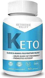 Ketogenic Valley Keto Pills - Burn Fat for Energy Not Carbs - Boost BHB Ketosis Ketones - Burn Stubborn Fat - Increase Ene...