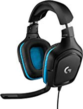 Logitech G432 - Auriculares con micrófono y Sonido Envolvente 7.1 para Gaming, transductores de 50mm, DTS Headphone:X 2.0, micrófono volteable para silenciar