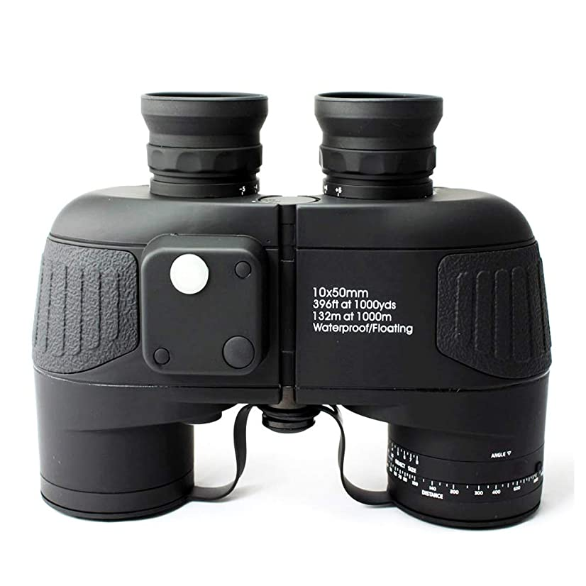 LUJIANJIAN campingy HD Ocean Binoculars 10X50 Zoom Rangefinder Compass Telescope Eyepiece Waterproof Nitrogen Black