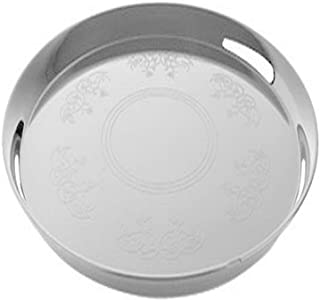 """Fineline Settings Platter Pleasers White Supreme 14"""" Round Tray 25 Pieces"""