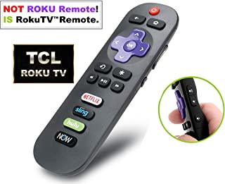 Standard IR Remote for TCL Roku TV with Updated Shortcuts eg. Netflix DirecTV Now (Not for ROKU Stick or ROKU Box Player)