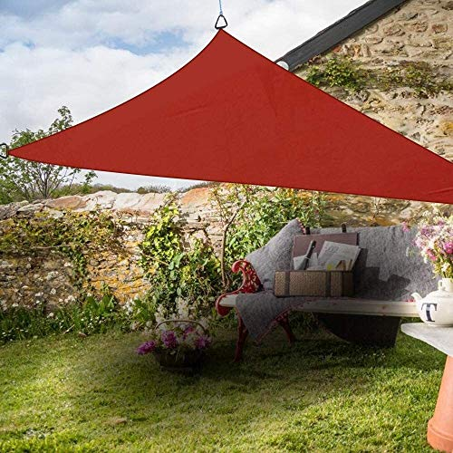 WDQJGD Shade Sails Triangle Anti-UV Shade Sail Outdoor Terrace Party Sunscreen Canopy Solar Sail (Color : Terracotta, Size : 3x3x3m)
