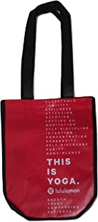 Small Reusable Tote Gym Bag (This is Yoga, Red)