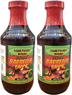 Spicy Barbecue Sauce - Jamaican-Style Spicy Barbecue Sauce 16 Fl Oz (2 Bottles)