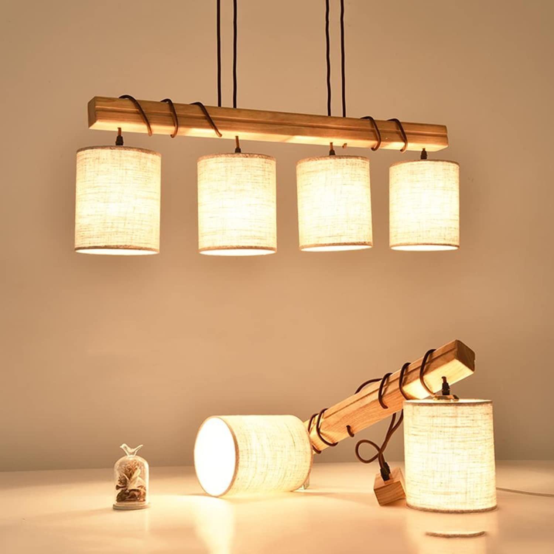 Holz handgefertigt hngende Pendelleuchten Nordic Kreativitt Restaurant Kronleuchter LED Pendel Lampe E27 Warm [Energieklasse A ++] , B