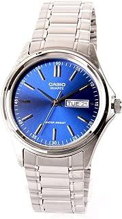 Casio watch with Movement Japanese Quartz Movement mtp-1239d-2a Silver/Blue 30mm