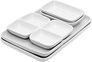 Starfrit T092507 Ceramic Modular Fondue Serving Dishes, 2 Sets, One Size, Silver