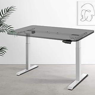 Artiss Height Adjustable Standing Desk Frame Electric Motorised Dual Motors Home Office Workstation White - Frame Only