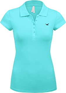 Junior Short Sleeve Multi Colors 5 Buttons Slim Fit Polo Shirts