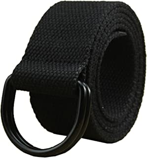 Sponsored Ad - Maikun Mens & Womens Canvas Belt with Black D-ring 1 1/2