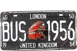 6x12 Inches Vintage Feel Home,bathroom,shop and Bar Wall Decor Souvenir Metal Tin Sign Poster Plaque (LONDON BUS 1956)