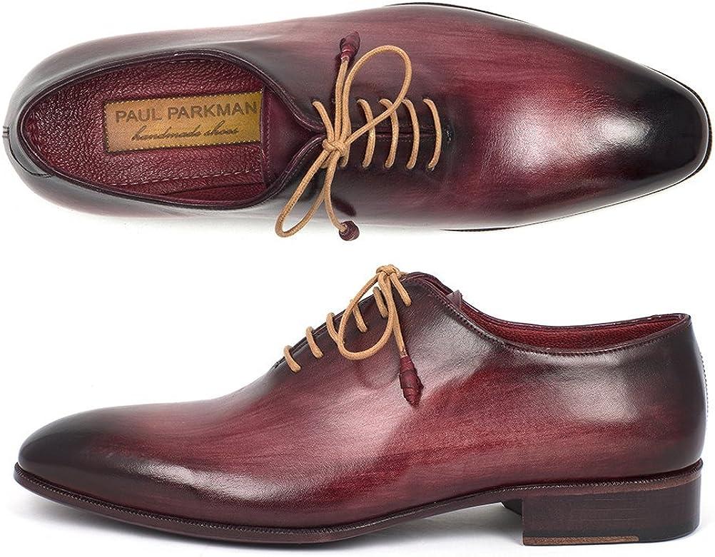 Paul Parkman Mens Burgundy Wholecut Plain Toe Oxfords