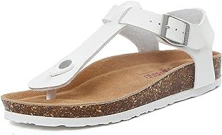 SANDALIAS DUO CHANCLAS SANDALS Zapatillas frescas de las mujeres Zapatillas planas de la resina de la manera del verano que conducen (blancas/negras) elegante