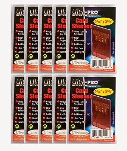 1000 fundas suaves Utra Pro. Por cada pedido, recibirás 1000 fundas Ultra Pro para proteger tus cartas coleccionables. 1000 fundas para cartas coleccionables Ultra Pro con dimensiones de aprox. 67 mm x 92 mm.