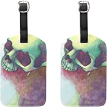 Luggage Tags Skulls And Bones Mens Tag Holder Kids Bag Labels Traveling Accessories 2 Piece
